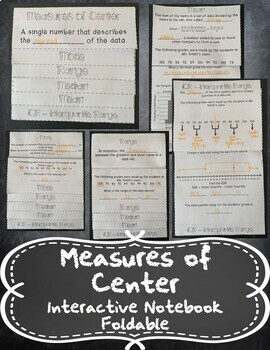 Measures of Center (Mean, Median, Mode, Range, & IQR) INB TEKS 6.12C