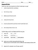 Measures of Center: Mean, Median, Mode and Range worksheet