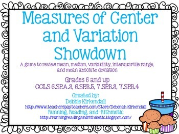 Measures of Center Showdown Game
