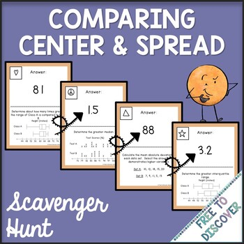 Measures of Center and Spread Activity - Scavenger Hunt
