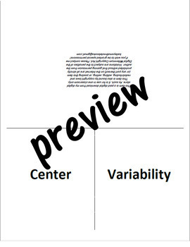 Measures of Center and Variability for Interactive Notebook