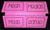 Measures of Central Tendancy Foldable (Mean, Median, Mode, Range)