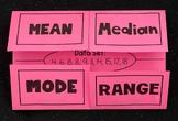 Measures of Central Tendancy Foldable (Mean, Median, Mode, Range)