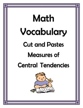CENTRAL TENDENCIES VOCABULARY