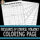 Measures of Central Tendency Coloring Activity