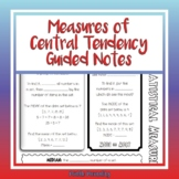 Measures of Central Tendency Doodle Notes (Mean, Median, M