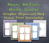 "Measures of Central Tendency Graphic Organizers: Assess Prior Knowledge ""Jigsaw"""