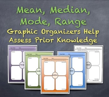 """Measures of Central Tendency Graphic Organizers: Assess Prior Knowledge """"Jigsaw"""""""