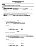 Measures of Central Tendency Guided Notes