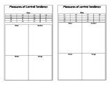 Measures of Central Tendency Interactive Notebook Pages - UPDATED
