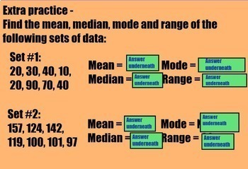 Measures of Central Tendency Mean, Median, Mode, Range Data Smartboard