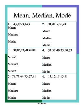 Measures of Central Tendency -Mean, Median, and Mode