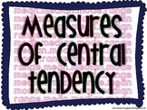 Measures of Central Tendency Posters and Game