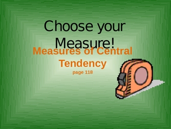 Measures of Central Tendency PowerPoint