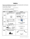 Measures of Central Tendency Reference Sheet