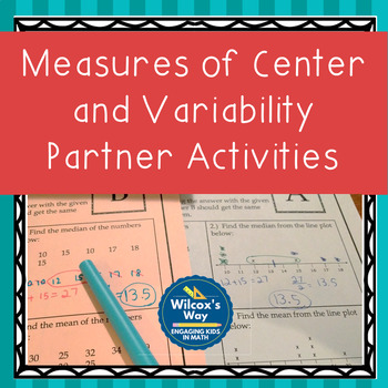 Measures of Central Tendency and Variability Partner Activities