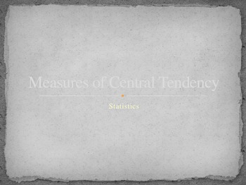 Measures of Central Tendency with Unit Test Scores