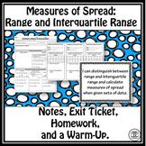 Interquartile Range and Range