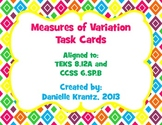 Measures of Variation Task Cards with QR Codes