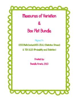 Measures of Variation and Box Plot Bundle