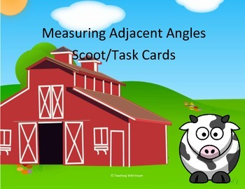 Adjacent Angles Task Cards & Scoot Activity