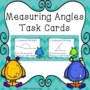 Measuring Angles Task Cards 4.MD.6