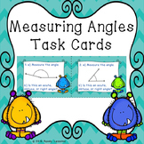 Measuring Angles using a Protractor 4th Grade Angle Task Cards Activity 4.MD.6