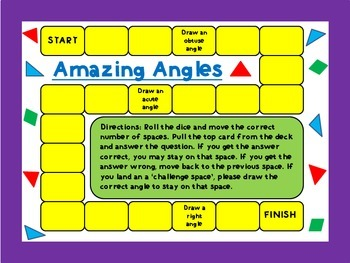 Measuring Angles Board Game/Task Cards