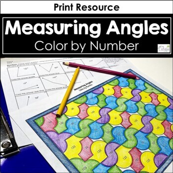 Measuring Angles Color by Number