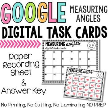 Google Classroom Measuring Angles Digital Task Cards
