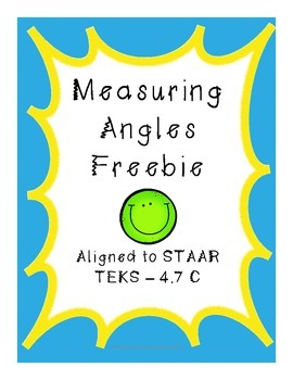 Measuring Angles Freebie