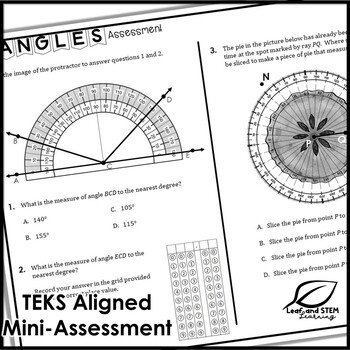 Measuring Angles Interactive Notebook Set