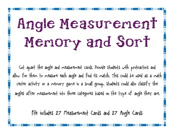 Measuring Angles Match