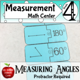 Measuring Angles Math Center Activity - Protractor Needed
