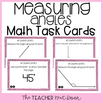 Measuring Angles Task Cards for 4th Grade