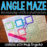 Measuring Angles Maze with a Protractor