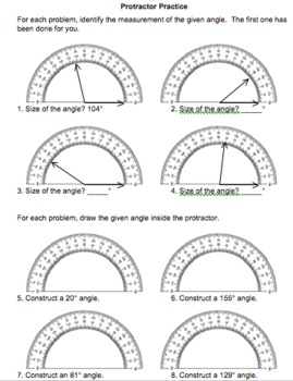 Measuring Angles Protractor Practice (4.MD.C.6)