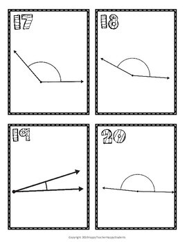Measuring Angles Scavenger Hunt: 20 Task Cards (Also great for Scoot!)