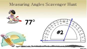 Measuring Angles Scavenger Hunt