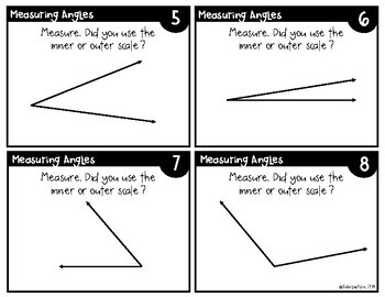 Measuring Angles Task Cards 4.G.1