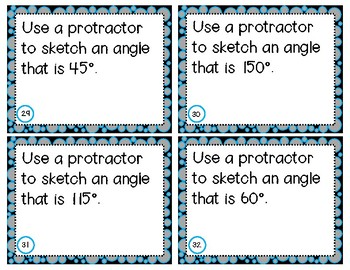 Measuring Angles Task Cards - 4.MD.6