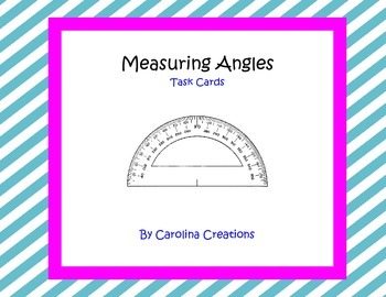 Measuring Angles Task Cards 4.MD.C.6 - Fourth Grade Common Core Math