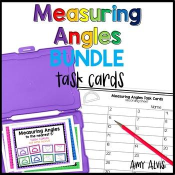 Measuring Angles Task Cards BUNDLE