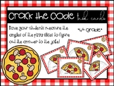 Measuring Angles Task Cards - Crack the Code