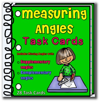 Math: Measuring Angles Task Cards Geometry - Grades 3-5
