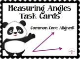 Measuring Angles Task Cards - Panda Theme