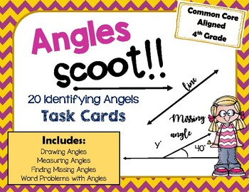 Measuring Angles Task Cards Scoot