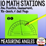 Measuring Angles Test Prep Math Stations