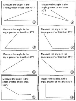Measuring Angles Unit -Pretests, Post-tests, Posters, Cheat Sheets, Worksheets..
