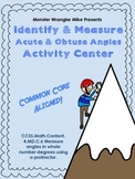 Measuring Angles Using A Protractor Activity - Common Core Aligned